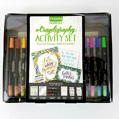 Crayola Signature Crayoligraphy Calligraphy Activity Set Creative Hand Lettering