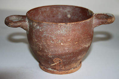 ANCIENT GREEK POTTERY HELLENISTIC SKYPHOS CUP 3rd  CENTURY BC DRINKING CUP