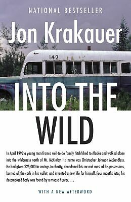 Into the Wild Paperback by Jon Krakauer 1st edition Travel Writing Reference