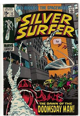 MARVEL COMICS issue 13  SILVER SURFER fantastic four fn- 5.5 1970