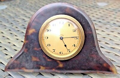 Antique Late 19Th Century Napoleon Hat Style 8 Days Travel Clock Swiss Movement