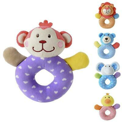Baby Cartoon Animal  Hand Bell Ring Rattle Kid Plush Soft Toy B98B