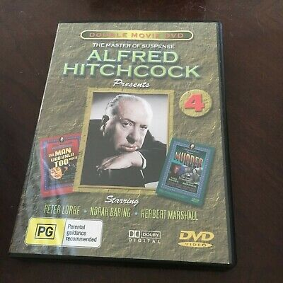 Double Movie Dvd. Alfred Hitchcock. Man Who Knew Too Much, Murder Dvd
