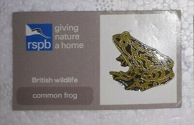 RSPB COMMON FROG charity pin badge TICKED BACK COMBINES P+P GNAH