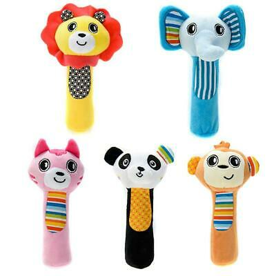 Baby Animal Shaped Cartoon Hand Bell Ring Rattle Kid Plush Soft Toy B98B