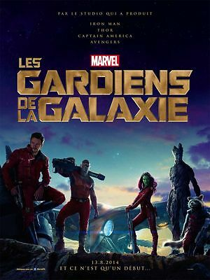 Guardians of the Galaxy - original DS movie poster D/S 27x40 - FRENCH