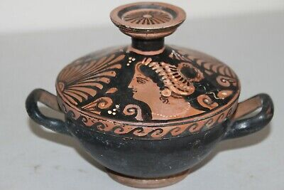 ANCIENT RED FIGURE LEKANNIS 4th CENTURY BC