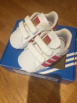 quality design 1bcfa 87d26 Adidas Originals Superstar Crib Shoes Baby Infant Girls Trainers - S79917  NEW