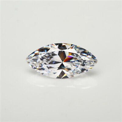MARQUISE CUT CLEAR / WHITE CUBIC ZIRCONIA LOOSE GEMSTONES - SIZE 14MMx7MM
