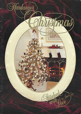 HARDANGER CHRISTMAS Embroidery Book Janice Love ANGEL, Stockings, Ornaments 1992