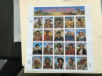 US #2869   Legends of the West.  29¢  MNH Sheet of 20.   Issued in 1994.