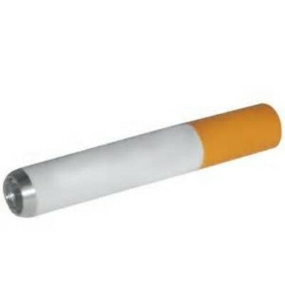 CIGARETTE ONE HITTER PIPE,Small Hand Tobacco Smoking Dugout Bowl Metal Bat, 2""