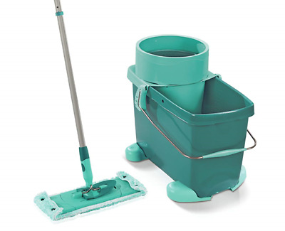 Leifheit Clean Twist System Medium Mop and Bucket Set with Rolling Cart, 33 cm