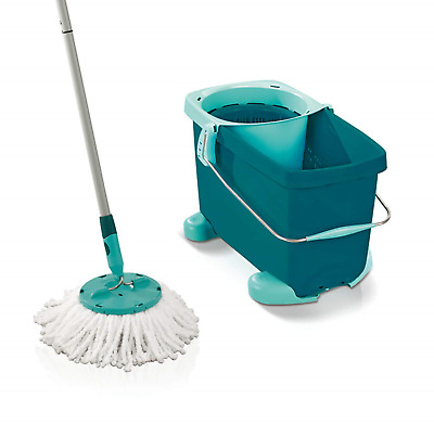 Leifheit Clean Twist Disc Mop and Bucket Set with Rolling Cart