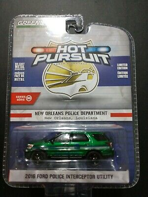 Greenlight Hot Pursuit 2016 Ford Explorer New Orleans Police Green Machine