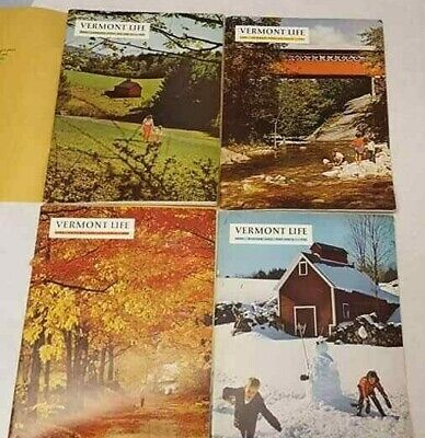 Vermont Life Magazine 1966 Spring Summer Autumn Winter 4 Issues Free S/H Vintage