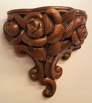 Vintage Roses Wall Sconce Bracket Shelf Home Decor