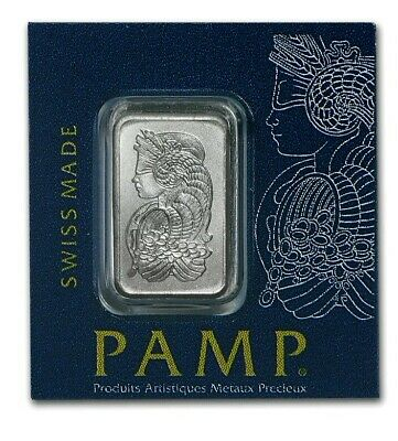 1 Gram Pamp Suisse Platinum Bar .9995 Pure ~~ New Sealed ~~