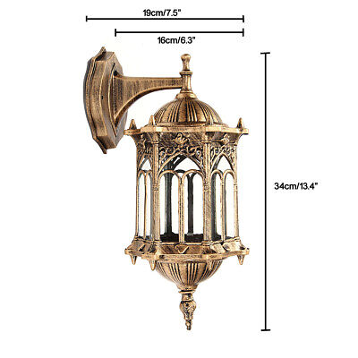 Outdoor Lantern Sconce Porch Light Lamp Antique Wall Lighting Fixture Lamps