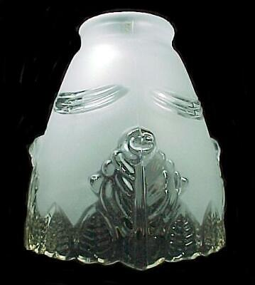Clear Frosted Glass Floral Bell Lamp Shade Chandelier Ceiling Fan Wall Sconce