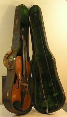 Violins Earnest Antique 19th Century French Violin With Relief Carved Castle On Back