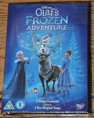 Frozen Olaf's Frozen Adventure 2017 Christmas Short Genuine Uk R2 Dvd Fast Post