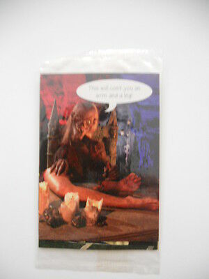 Tales from the Crypt four cards sealed preview set 1990s