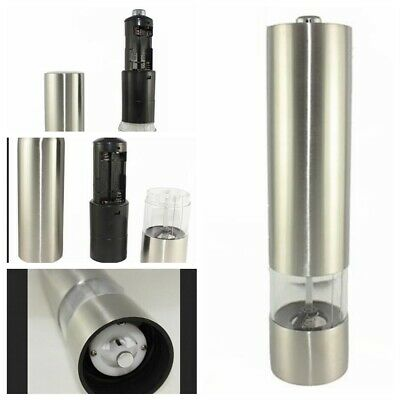 Electric Stainless Steel Salt Pepper Mill Grinder Shaker with LED Light