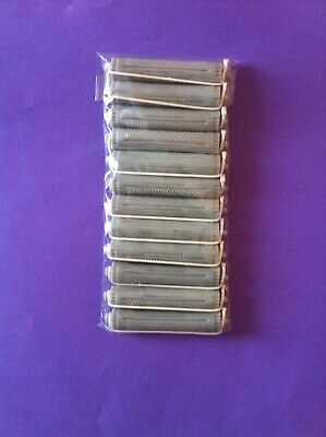 Hairdressing  12  Large Grey Perm  Curlers/ Rollers Rods Brand New