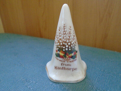 Lucky White Heather From Milnthorpe - Candle Snuffer - Arcadian Crested China
