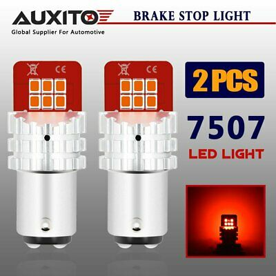 2x AUXITO 1157 7507 BAY15D Tail Stop Brake Stop Parking Light RED LED Globes