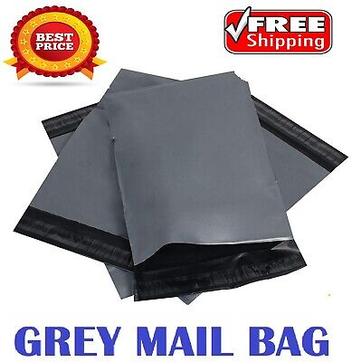 "6.5""x 9"" Grey Mailing Bags Strong Parcel Postage Plastic Post Poly Self Seal"