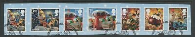 GB 2010  Commemorative Stamps~Christmas ~Very Fine Used Set~on piece,~UK