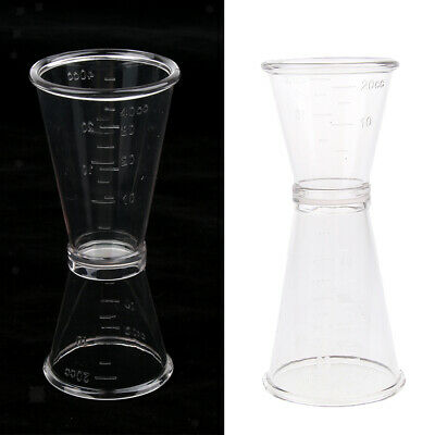 Clear Cocktail Double Jigger Measurer for Mixed Drinks Shots 40cc 20cc/ml
