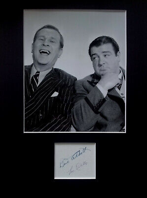 ABBOTT and COSTELLO signed autographs PHOTO DISPLAY Bud Abbott Lou Costello