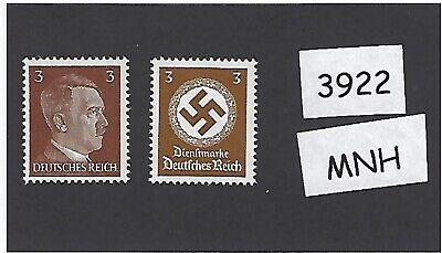 #3922 PF03 Adolph Hitler & Nazi Swastika postage stamps / MNH Third Reich issues