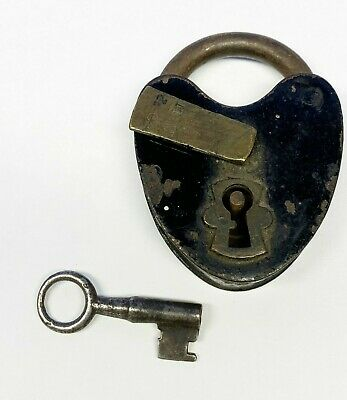 Vintage Antique M.W. & Co Padlock & Key - working condition