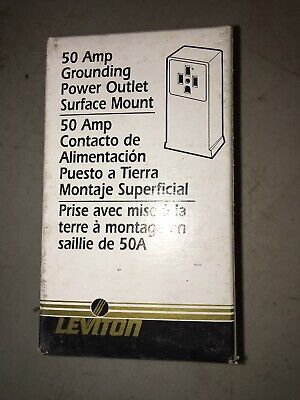 Leviton 3 pole 4 wire 50 amp grounding power outlet surface mount #061-55050