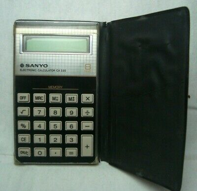 SANYO CX 330 rare vintage 1980's 8-digit electronic calculator Japan works fine