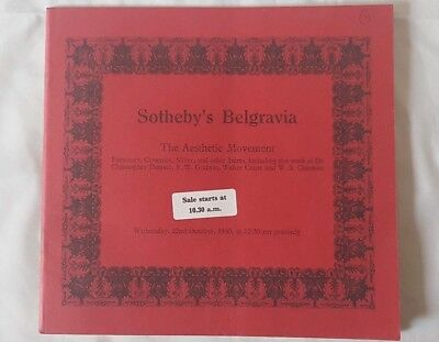 SOTHEBY'S  CATALOGUE THE AESTHETIC MOVEMENT. 1980 c dresser godwin ++