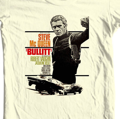 Bullitt T-shirt Steve McQueen vintage 70's movie retro cotton graphic tee Bullet