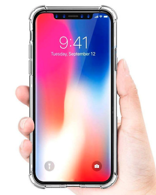 Jelly clear and flexible cell phone TPU Case for IPhone XR. Reinforced corner.
