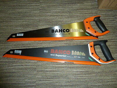 BAHCO 2 550mm HANDSAWS PrizeCut Superior Genuine NEW NP-22-U7/8-HP 2600-22-XT-HP