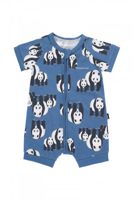 Bonds Baby Short Sleeve Zip Wondersuit Romper sizes 000 00 0 3 Panda Print