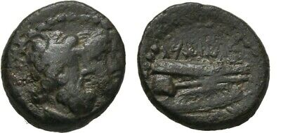 Ancient Greece 2-1 Cent BC PHOENICIA ARADOS ZEUS HERA JUGATE PROW GALLEY
