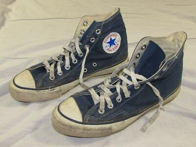 1755bf4c3029 Vtg 70s 80s Converse Chuck Taylor All Star Shoe Sz 8 Navy Blue USA Made Old