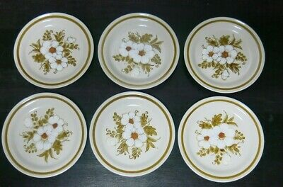 Mountain Wood Collection Stoneware- Dried Flowers Plates- Made in Japan Set of 6