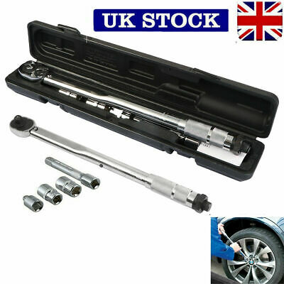 "Ratchet Drive Torque Wrench 1/2"" Square Drive 28 -210Nm Tool Socket Wrenches UK"