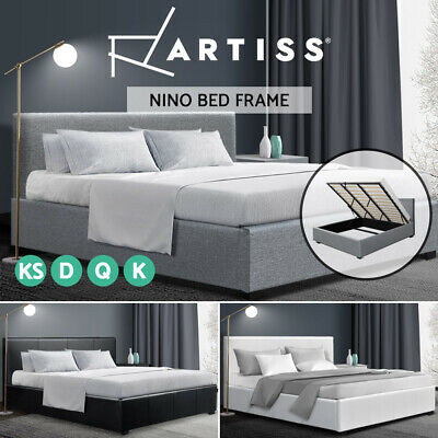 Artiss King Single Double Queen Size Gas Lift Bed Frame Base With Storage