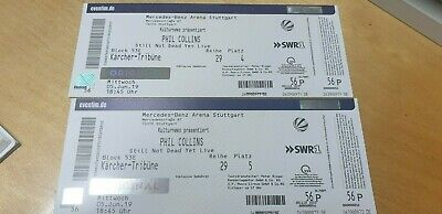 2 x Phil Collins Tickets Stuttgart 5.6.2019 TOP